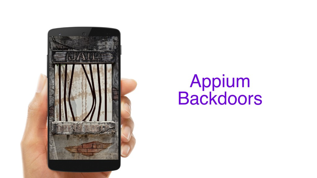 Appium Backdoors