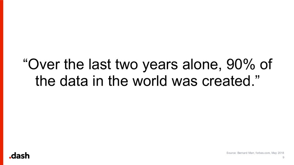 """""""Over the last two years alone, 90% of the data..."""