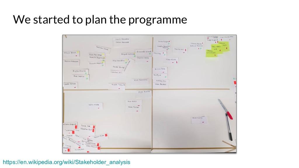 We started to plan the programme https://en.wik...