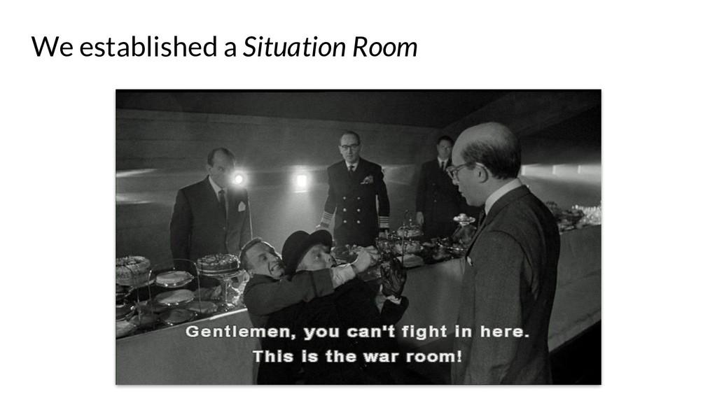 We established a Situation Room