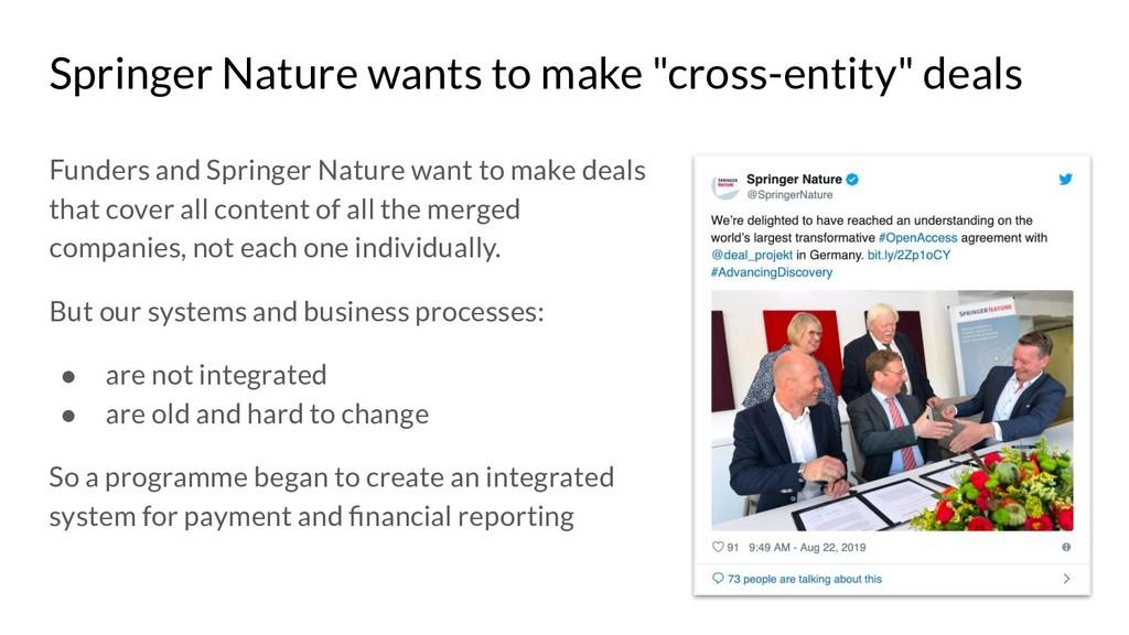 "Springer Nature wants to make ""cross-entity"" de..."