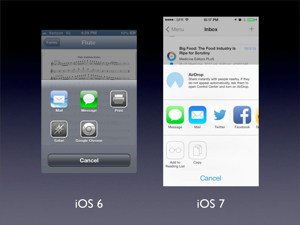 iOS 6 iOS 7