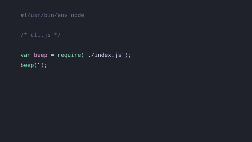 #!/usr/bin/env node /* cli.js */ var beep = req...