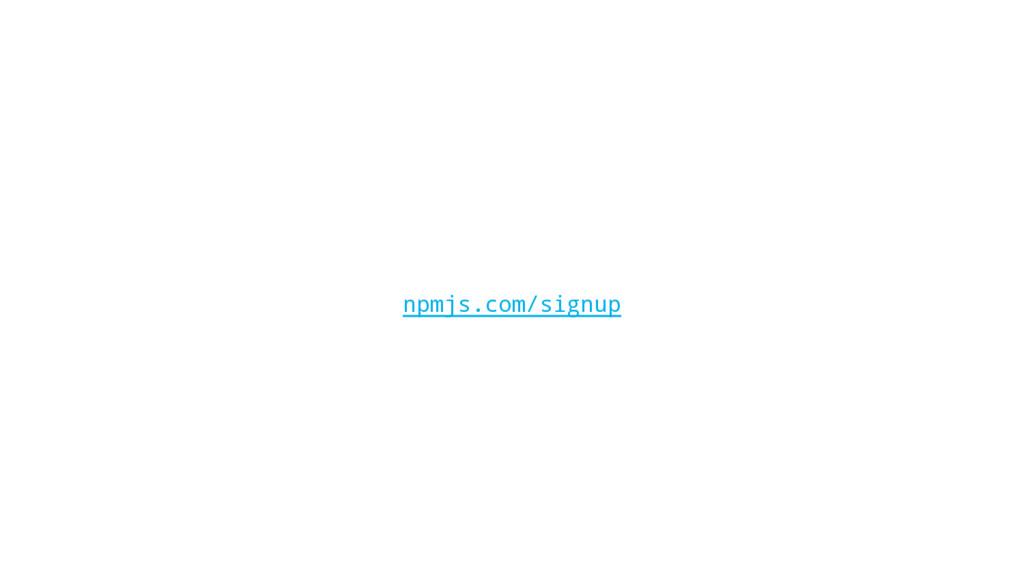 npmjs.com/signup