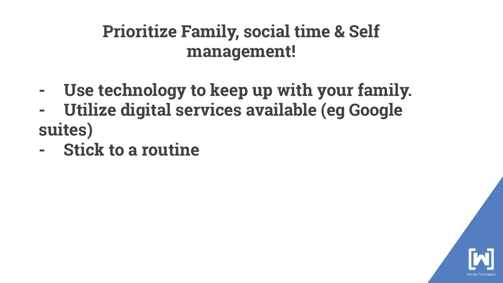 - Use technology to keep up with your family. -...