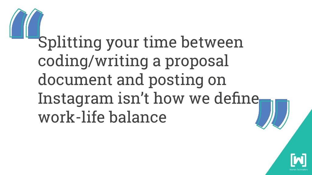Splitting your time between coding/writing a pr...