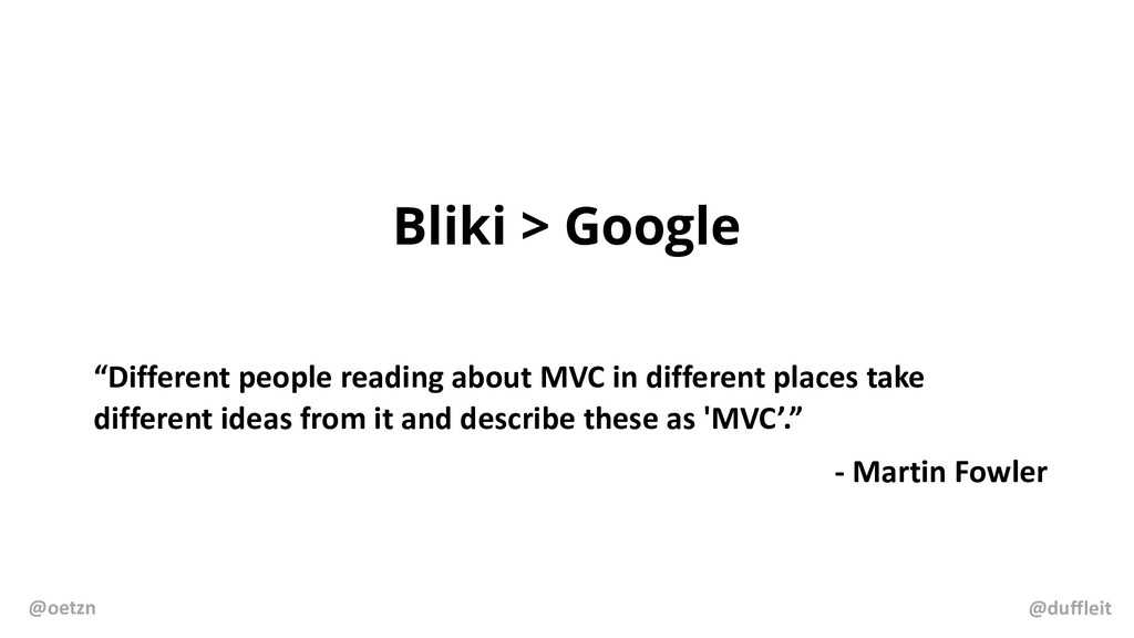 """Bliki > Google """"Different people reading about ..."""