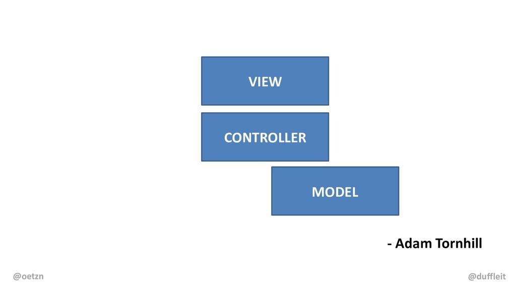 - Adam Tornhill VIEW CONTROLLER MODEL @duffleit...