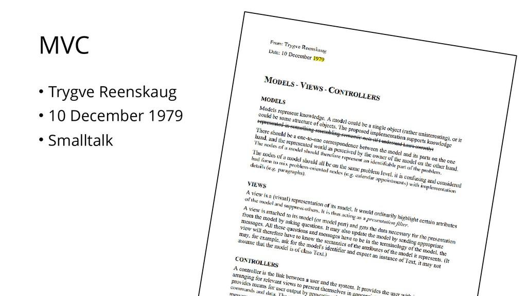 MVC • Trygve Reenskaug • 10 December 1979 • Sma...