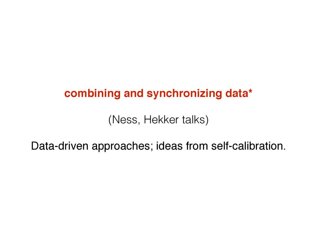 combining and synchronizing data* (Ness, Hekker...