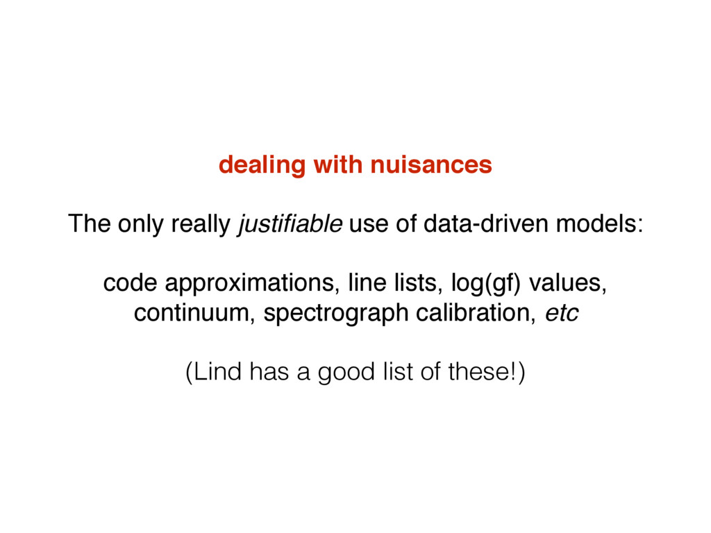 dealing with nuisances The only really justifiab...