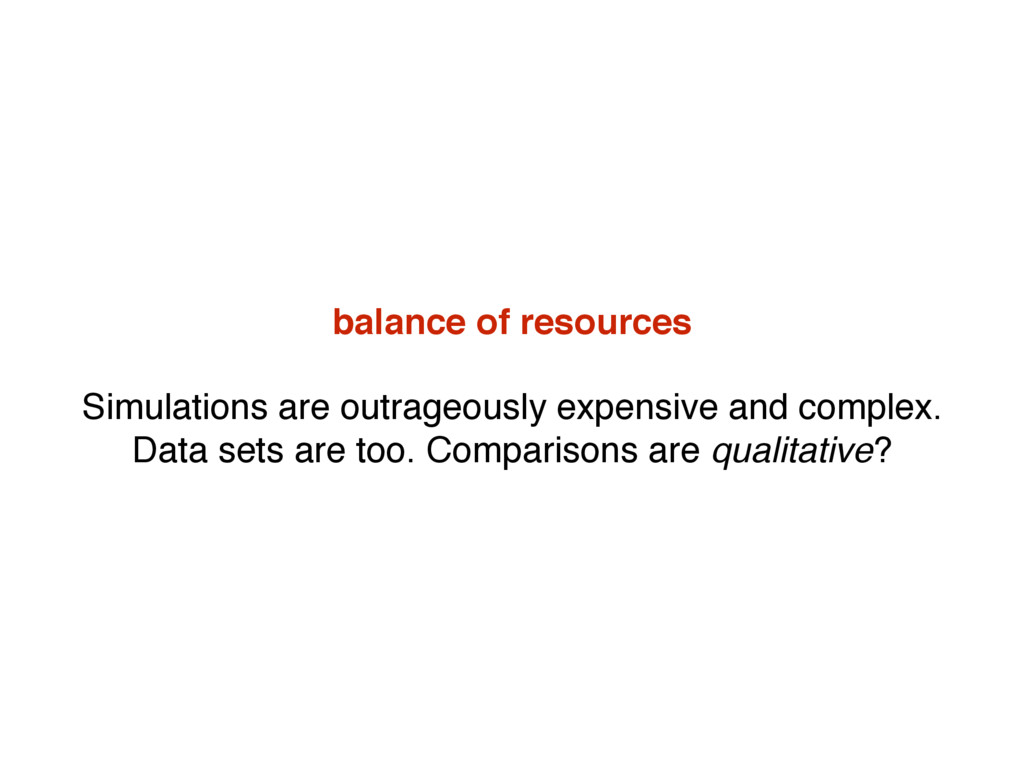 balance of resources Simulations are outrageous...