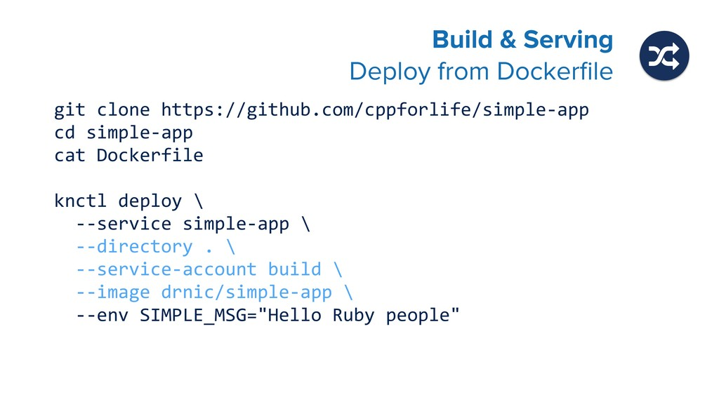 Build & Serving Deploy from Dockerfile git clon...