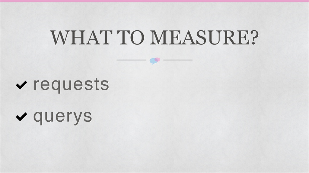 WHAT TO MEASURE? requests querys