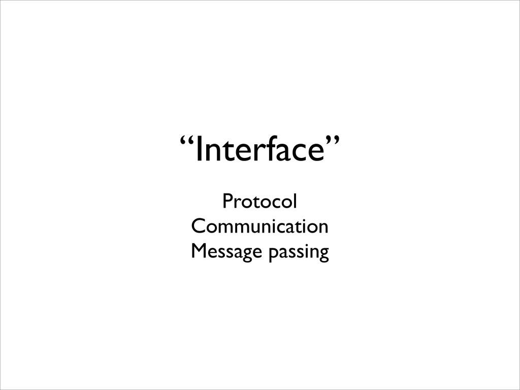 """Interface"" Protocol  Communication  Messag..."
