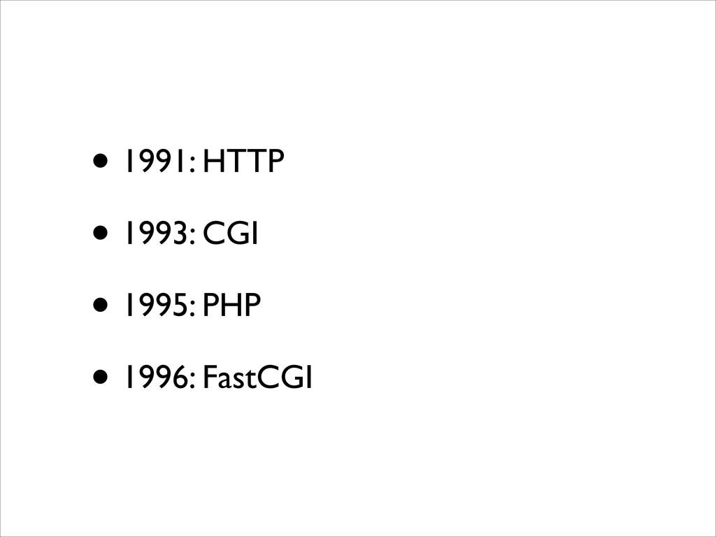 • 1991: HTTP  • 1993: CGI  • 1995: PHP  •...
