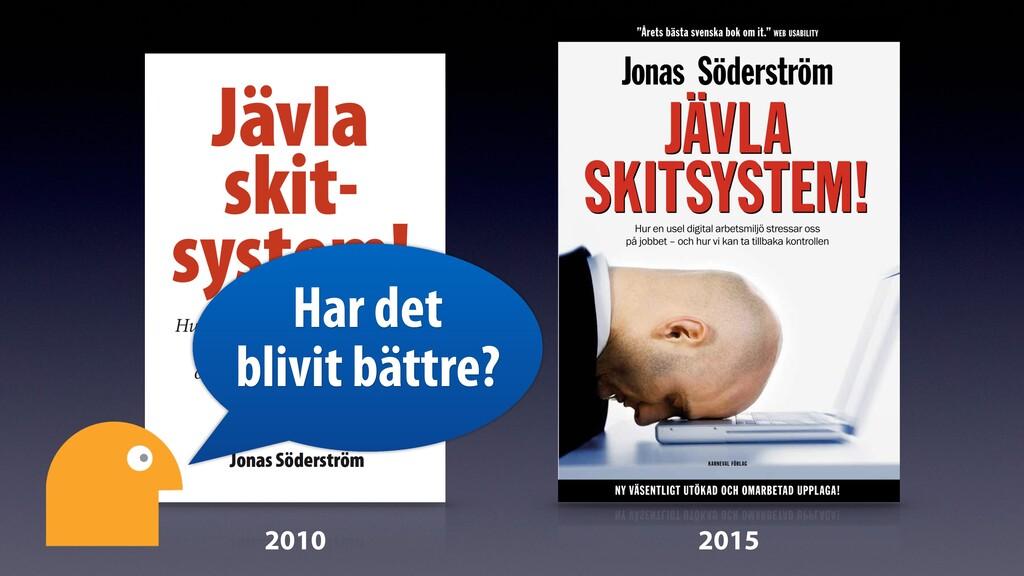 2010 2015 Har det blivit bättre?