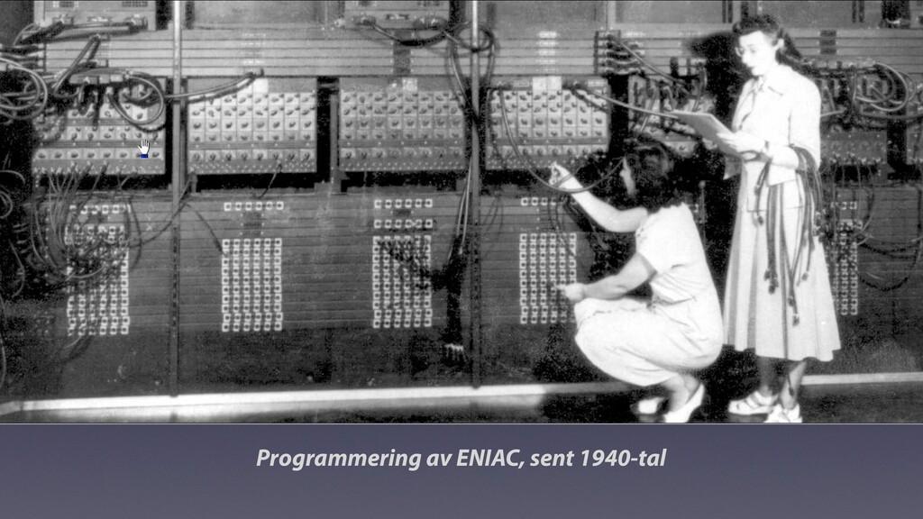 Programmering av ENIAC, sent 1940-tal