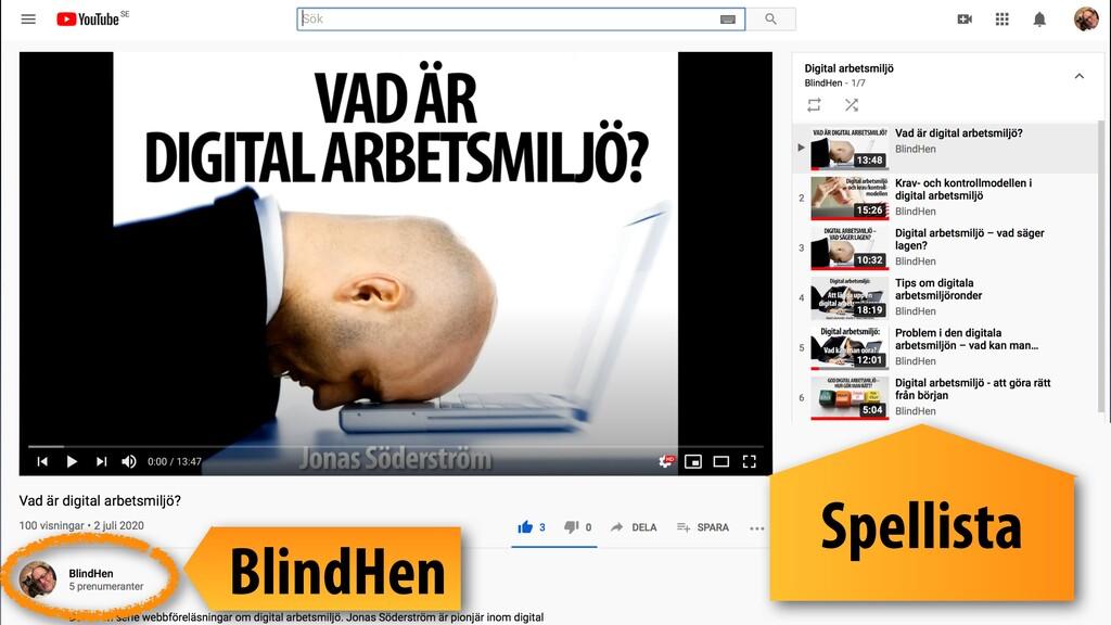 Spellista BlindHen