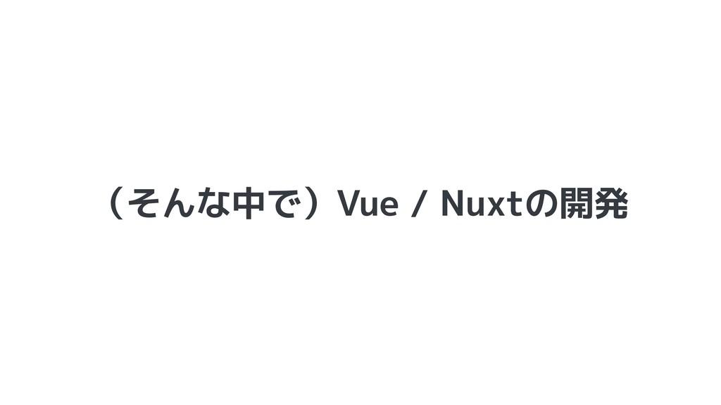 (そんな中で)Vue / Nuxtの開発