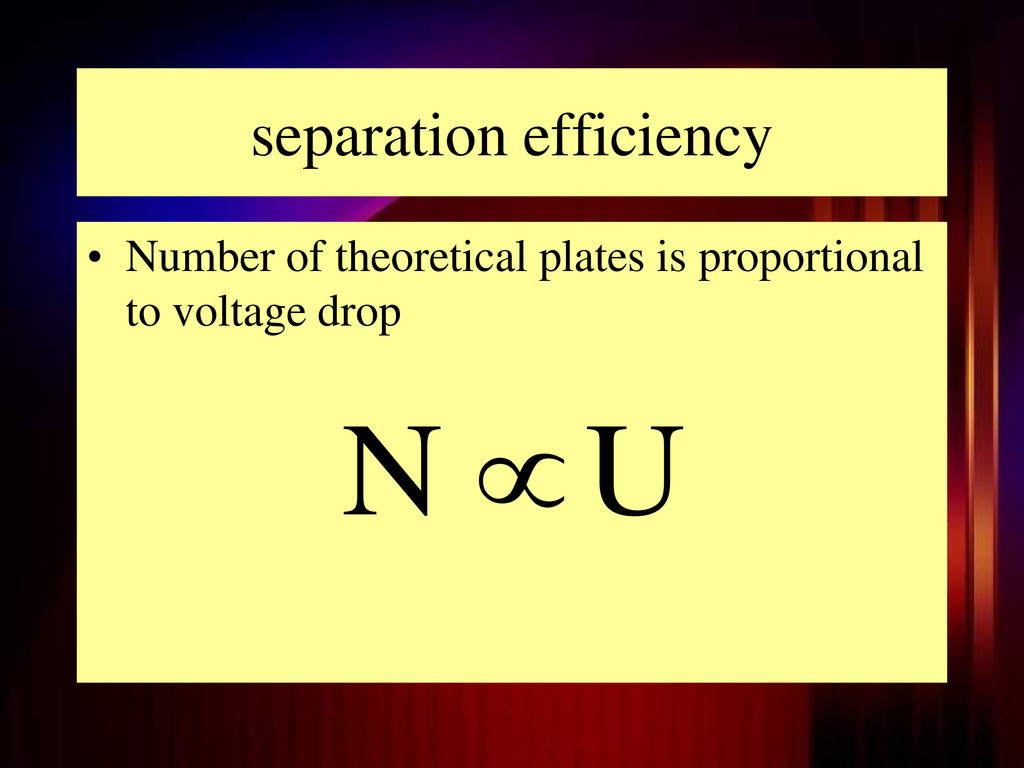 separation efficiency • Number of theoretical p...
