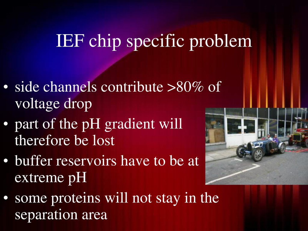IEF chip specific problem • side channels contr...