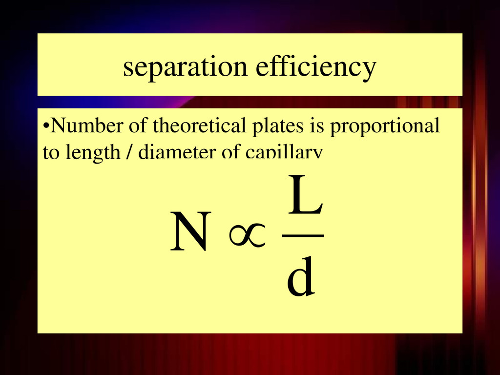 separation efficiency •Number of theoretical pl...