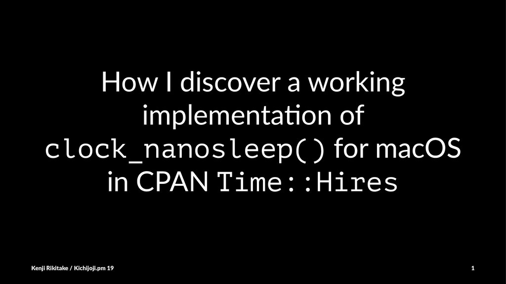 How I discover a working implementa5on of clock...
