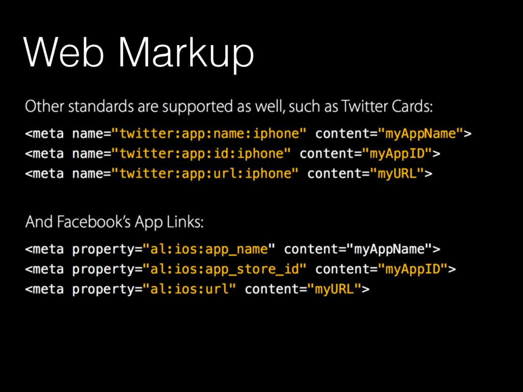 Web Markup