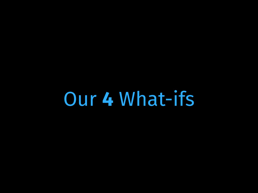 Our 4 What-ifs