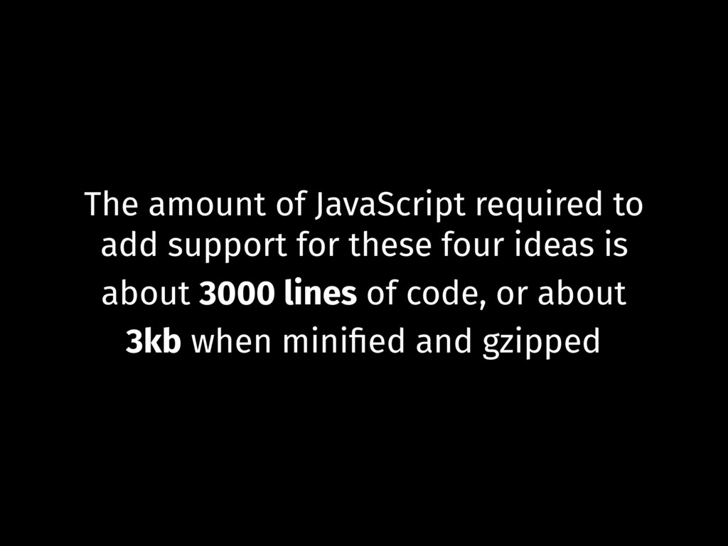 The amount of JavaScript required to add suppor...