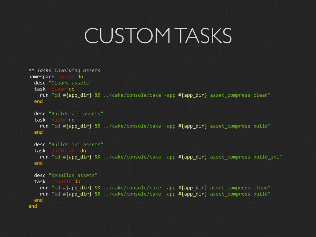 CUSTOM TASKS ##	