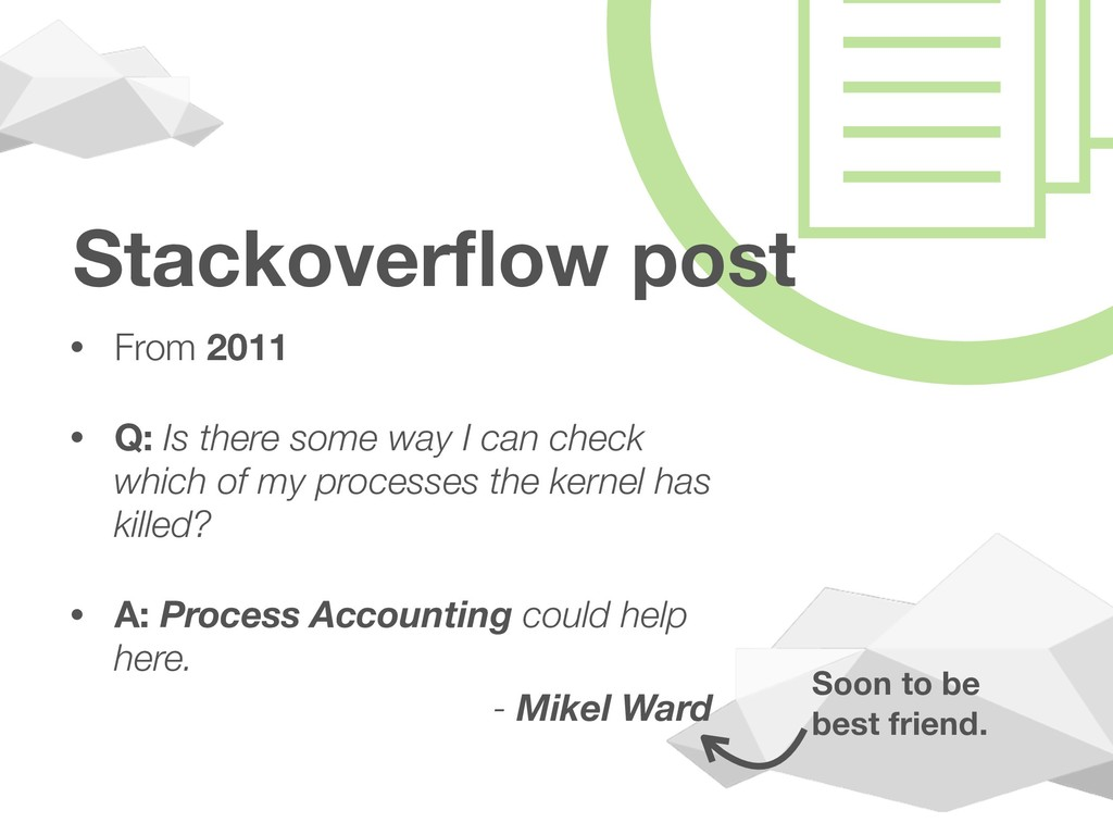 Stackoverflow post • From 2011 • Q: Is there som...