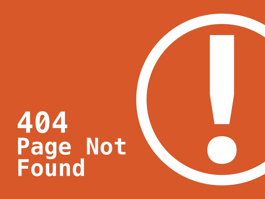! 404 Page Not Found