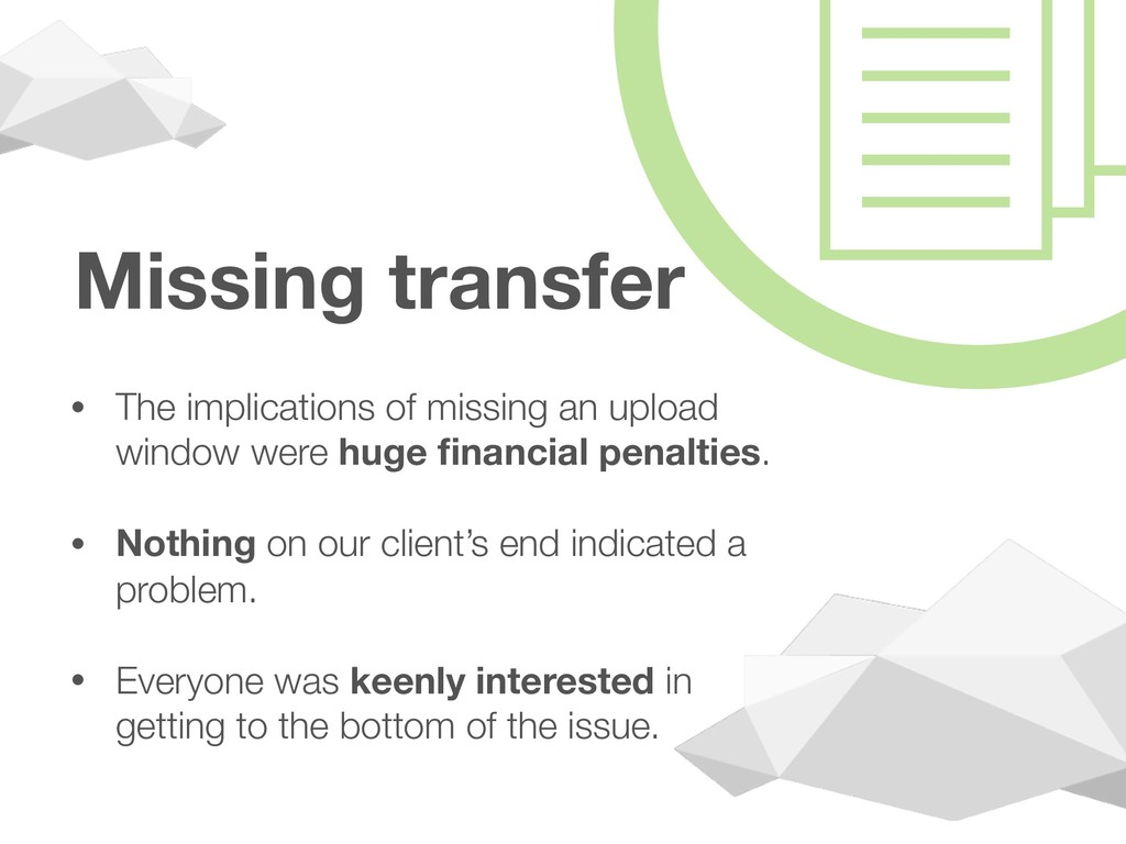 Missing transfer • The implications of missing ...