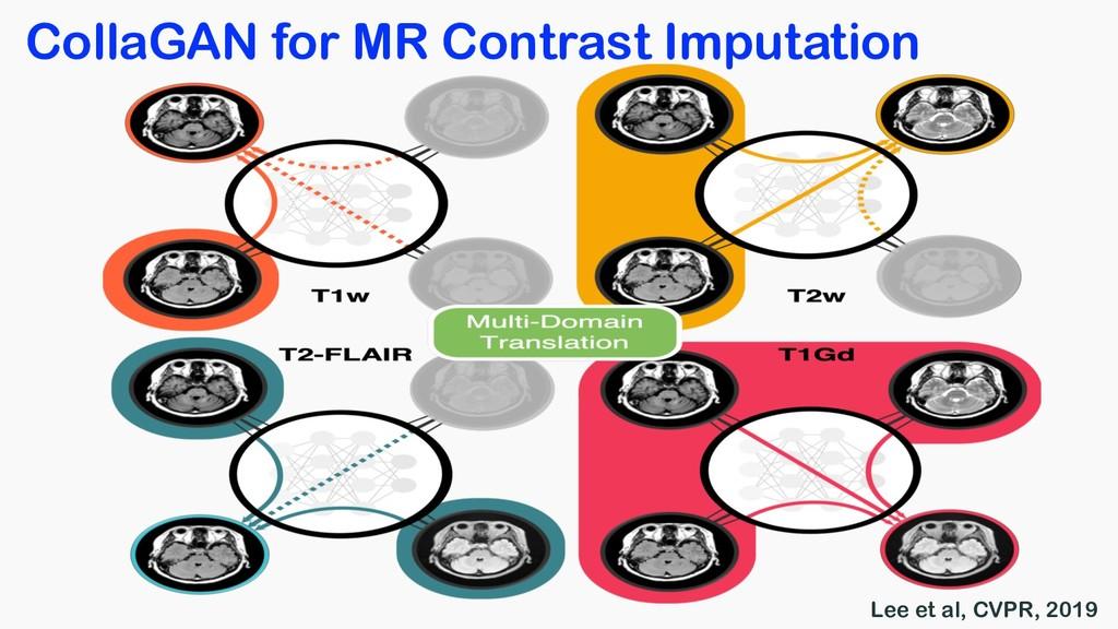 CollaGAN for MR Contrast Imputation Lee et al, ...