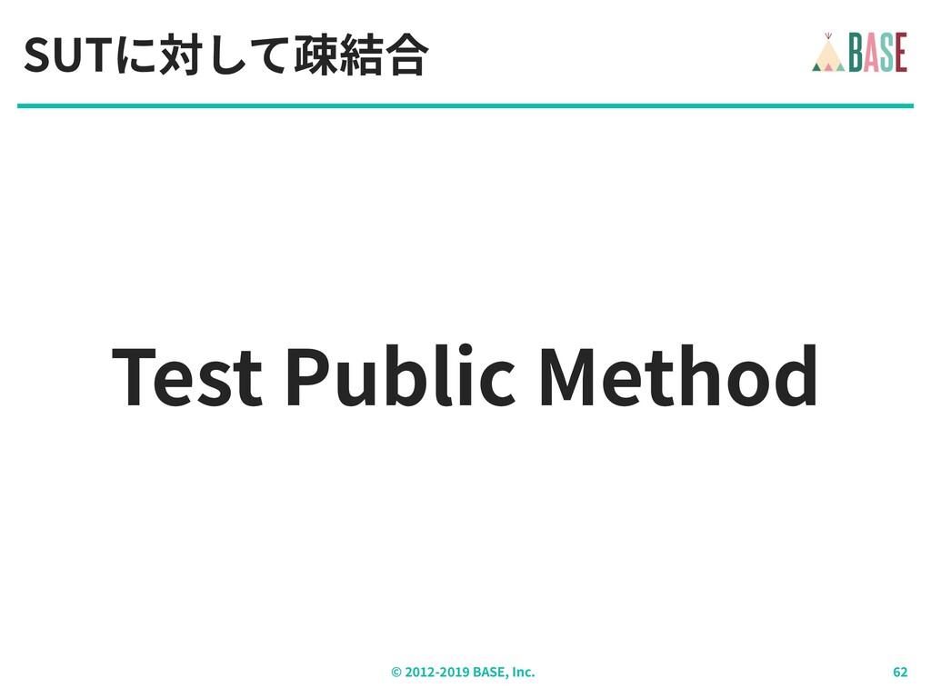 © - BASE, Inc. Test Public Method SUTに対して疎結合