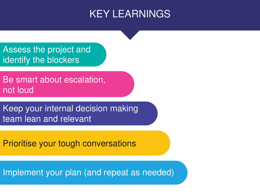 KEY LEARNINGS Assess the project and identify t...