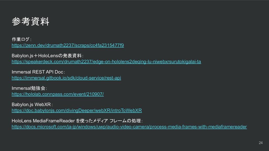 参考資料 作業ログ: https://zenn.dev/drumath2237/scraps/...