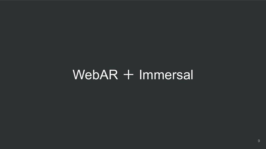 WebAR + Immersal 9