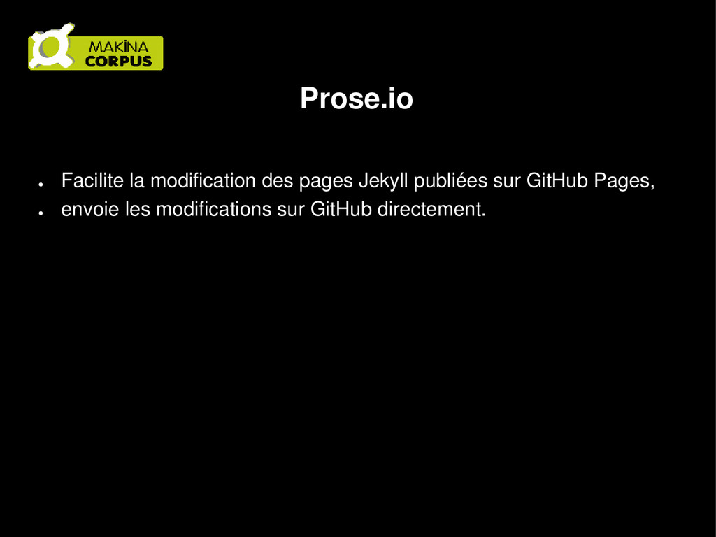 Prose.io ● Facilite la modification des pages J...