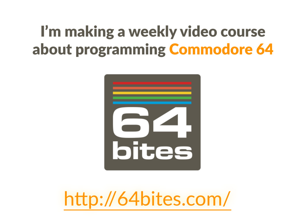 I'm making a weekly video course about programm...