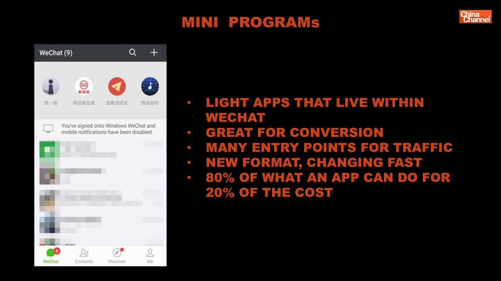 MINI PROGRAMs • LIGHT APPS THAT LIVE WITHIN WEC...