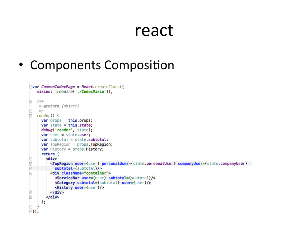 react •  Components	