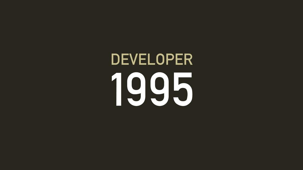 1995 DEVELOPER