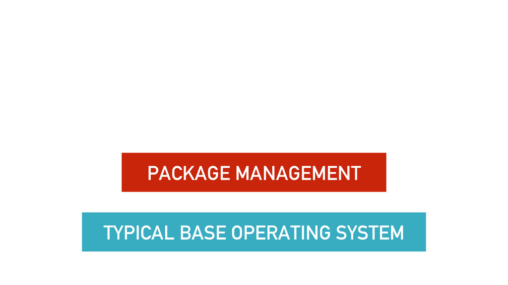 TYPICAL BASE OPERATING SYSTEM PACKAGE MANAGEMENT