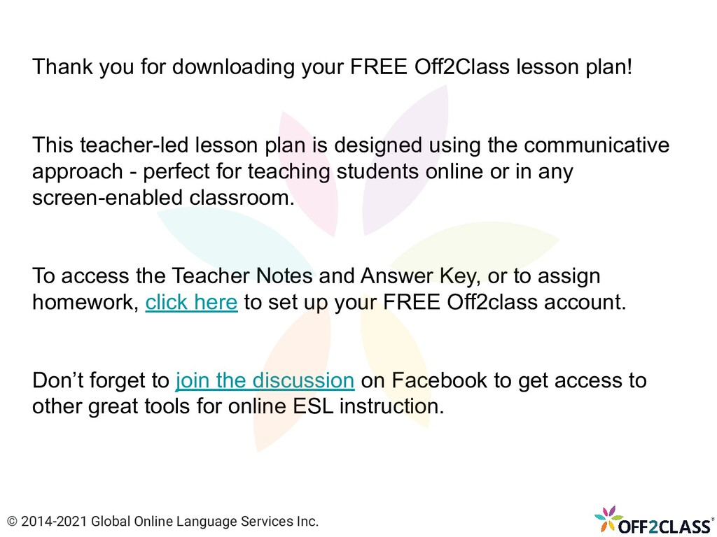 Thank you for downloading your FREE Off2Class l...