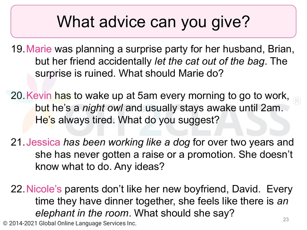 19.Marie was planning a surprise party for her ...