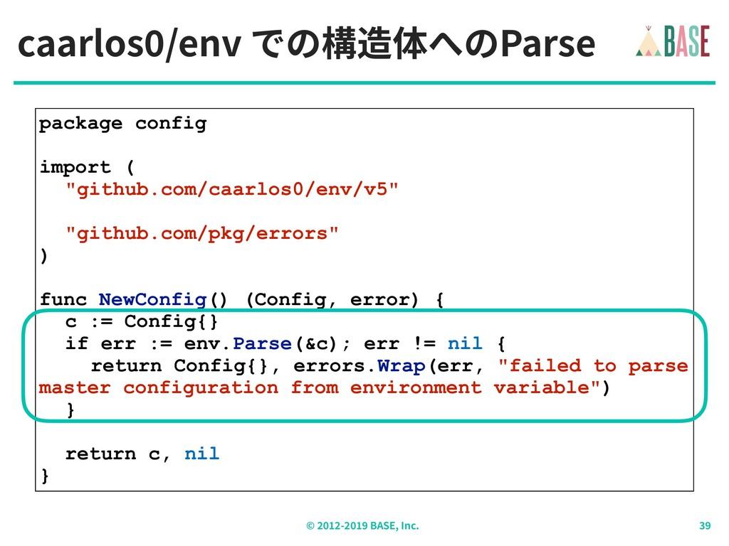 © - BASE, Inc. caarlos /env での構造体へのParse packag...