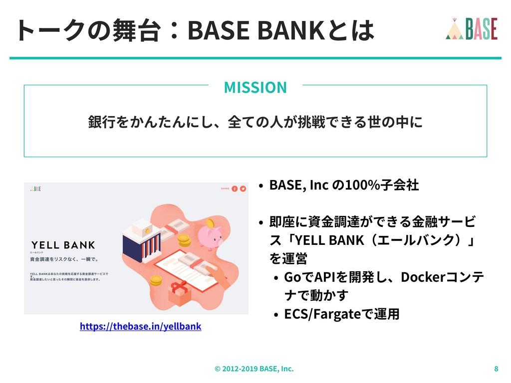 © - BASE, Inc. トークの舞台:BASE BANKとは 銀⾏をかんたんにし、全ての...